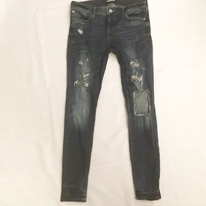Express Distressed Mid Rise Stretch Jegging Size 8